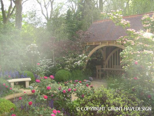Hvad kendetegner Cottagehave som havestil især frodighed og oaseagtig